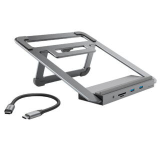 HAMA USB-C Dockingsstation 12-i-1- design - USB-A/USB-C/HDMI/LAN/VGA/SD/3.5mm