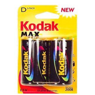Kodak Max Alkaline D/LR20 Batterier - 2 stk