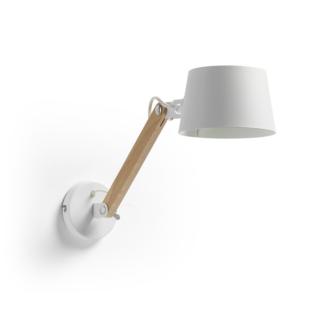 LAFORMA Move væglampe - hvid/natur metal/træ