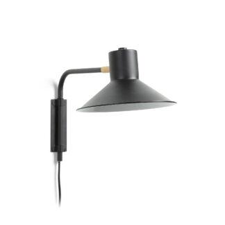 LAFORMA Plass væglampe - sort/messing metal