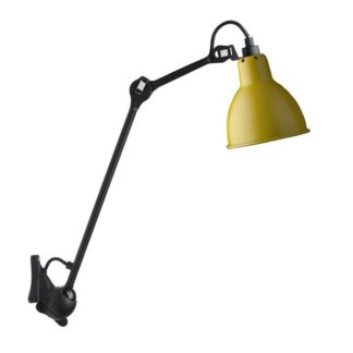 Lampe Gras N222 Væglampe Mat Sort & Mat Gul