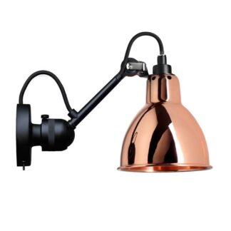 Lampe Gras N304 Væglampe Mat Sort & Kobber Med Tænd/Sluk