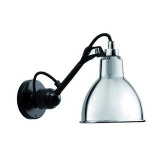 Lampe Gras N304 Væglampe Mat Sort & Krom Hardwired