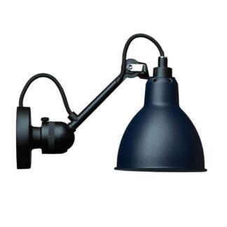 Lampe Gras N304 Væglampe Mat Sort & Mat Blå Hardwired