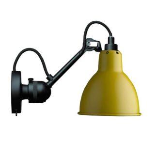 Lampe Gras N304 Væglampe Mat Sort & Mat Gul Med Tænd/Sluk
