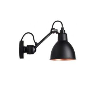 Lampe Gras N304 Væglampe Mat Sort & Mat Sort/Kobber Hardwired
