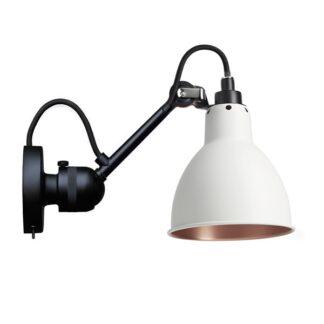 Lampe Gras N304 Væglampe Mat Sort/Hvid/Kobber Med Tænd/Sluk