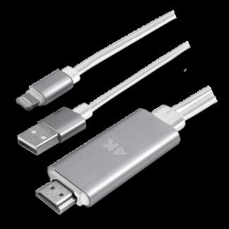 Lightning til HDMI adapter kabel 1.8m - Tilslut iPhone/iPad til TV