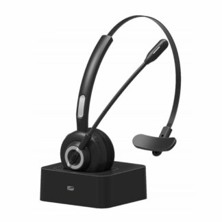 M97 - Trådløst Headset m/oplader dock - NOISE CANCELLING - 17 TIMERS TALETID - Sort