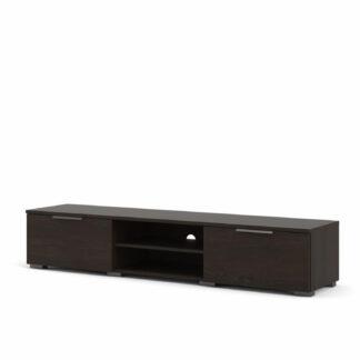 Match TV-bord, m. 1 hylde og 2 skuffer - brun folie og plastik (172,7x39,9)