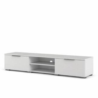 Match TV-bord, m. 1 hylde og 2 skuffer - hvid folie og plastik (172,7x39,9)