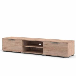 Match TV-bord, m. 1 hylde og 2 skuffer - natur folie og plastik (172,7x39,9)