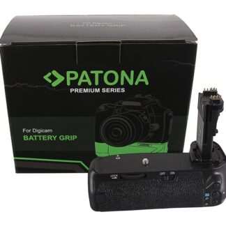 PATONA Premium Battery Grip f. Canon EOS 70D 80D BG-E14H f. 2 x LP-E6 batteries incl. IR wireless control