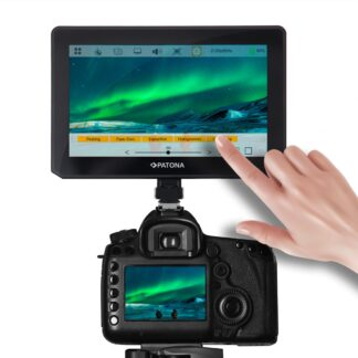 PATONA Premium LCD TOUCH Monitor: 5 Inch HDMI 4K 60Hz LUT Check Field Peaking Sunshade