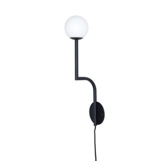 Pholc MOBIL 46 Væglampe Sort/Opal Hardwired