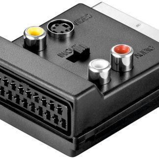 Scart Han/Hun til Composite audio/video- og S-Video-adapter