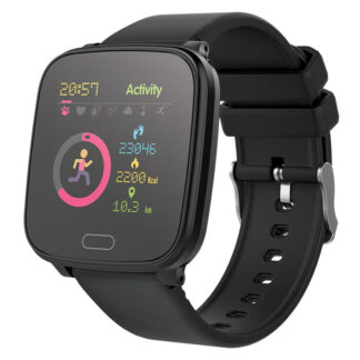 Smartwatch til Børn - JW100 - Bluetooth - Vandtæt - Puls - Blodtryk - Fitness Tracker - Sort