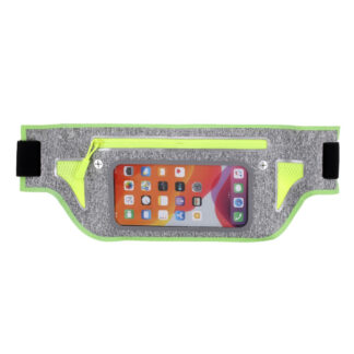Sports/løbe bæltetaske til iPhone/smartphone op til 165x80 mm - Grøn
