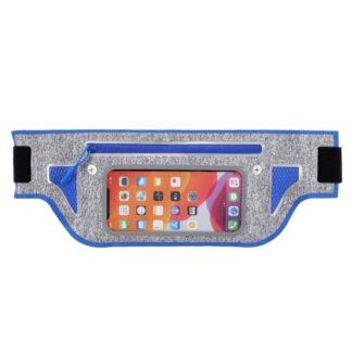 Sports/løbe bæltetaske til iPhone/smartphone op til 165x80 mm - Mørkeblå