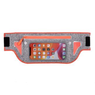 Sports/løbe bæltetaske til iPhone/smartphone op til 165x80 mm - Orange