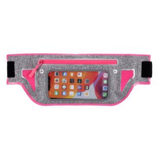 Sports/løbe bæltetaske til iPhone/smartphone op til 165x80 mm - Rosa