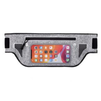 Sports/løbe bæltetaske til iPhone/smartphone op til 165x80 mm - Sort