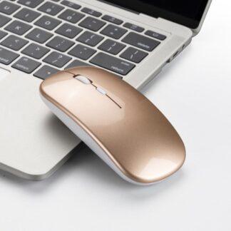 Trådløs mus - 2.4Ghz - 3-Speed funktion Max 1600 DPI - Guld