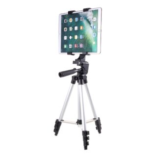 Tripod til iPad / tablet - m/udtræk og justerbar - Aluminium