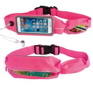 Universal Løbe bæltetaske til iphone/smartphones op til 160x80 mm - Rosa