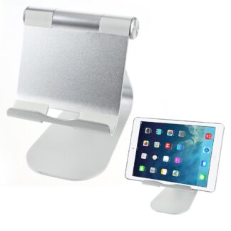 Universal aluminium desktop/holder til tablet/pc - Sølv