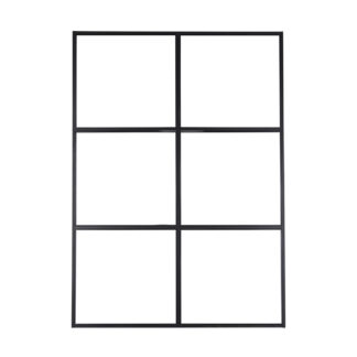 VENTURE DESIGN Leif rumdeler - glas og sort metal (150x210)