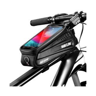 WILD MAN - Cykelholder med holder til iphone/smartphone op til 160*90mm - Vandtæt - Sort