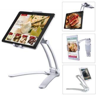 iPad / Tablet - Universal 2-i-1 justerbar holder til bord/køkken