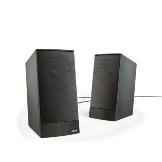 HAMA PC Stereo Højttaler Sonic LS-208 - Sort - sæt med 2 stk.