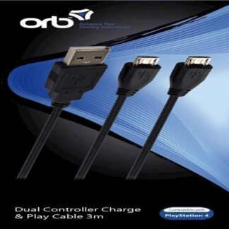 Playstation 4 Dual Controller Charge Play Cable 3M Orb - Ps4