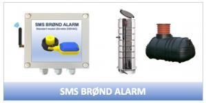 SMS-Styring Brønd alarm (direkte 230VAC tilslutning)