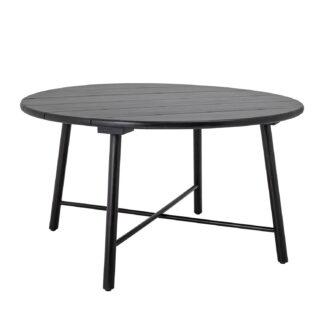 CREATIVE COLLECTION Lope spisebord, rund - sort akacietræ (Ø140)