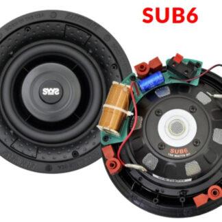 "Earthquake SUB-6 indbygnings 6"" subwoofer 300 watt 8 Ohm"