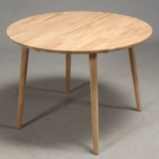 FURBO rund spisebord - massiv behandlet eg (Ø80) Hvidolieret eg