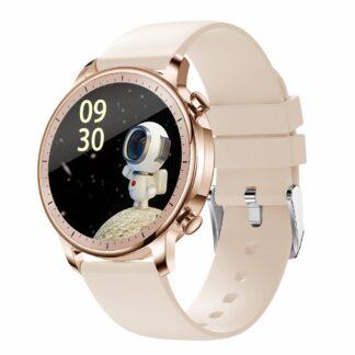 LEMONDA SMART V23 - Smartwatch med Fuld Touch - Bluetooth - Vandtæt - Puls - Blodtryk - Sportsmodes - APP med DANSK SPROG - Guld