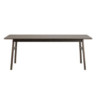 ROWICO Nagano spisebord, m. udtræk - brun egetræsfiner og egetræ (205x95)