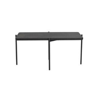 ROWICO Shelton sofabord - sort asketræ og sort metal (95x50)