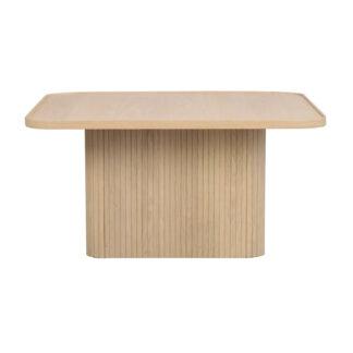 ROWICO Sullivan sofabord, kvadratisk - hvidpigmenteret egetræsfiner og egetræ (80x80)