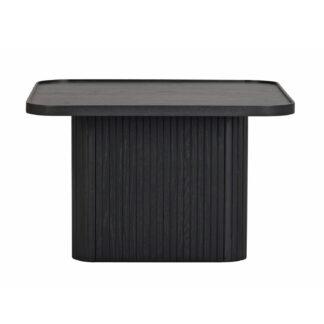 ROWICO Sullivan sofabord, kvadratisk - sort egetræsfiner og egetræ (60x60)