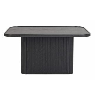 ROWICO Sullivan sofabord, kvadratisk - sort egetræsfiner og egetræ (80x80)