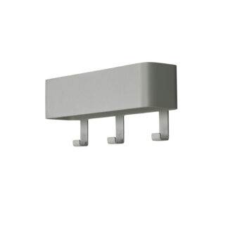 SPINDER DESIGN Dax Play knagerække, m. 3 knager, m. hylde - støvet grøn stål (27x12)