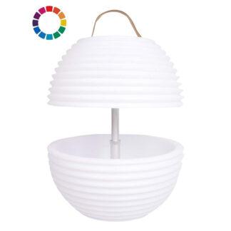 The.Bowl - Lampe med indbygget Bluetooth Højttaler & Vinkøler - Vandtæt - Hvid