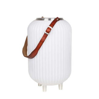 The.Lampion S - Lampe med indbygget Bluetooth Højttaler & Vinkøler - Hvid