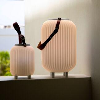 The.Lampion XS - Lampe med indbygget Bluetooth Højttaler & Vinkøler - Hvid