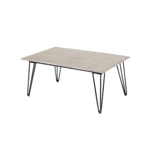 BLOOMINGVILLE Mundo havebord - grå/sort cement/metal, rektangulær (90x60)